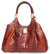 Brahmin Elisa Croc Embossed Leather Shoulder Bag