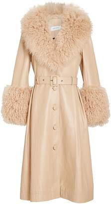 Saks Potts Foxy Shearling Patent Leather Coat