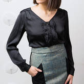LAGOM Emilia Satin Blouse Black