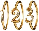 Lulu Frost Code Number Ring Yellow Gold 18KT