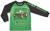 John Deere Green & Black Tractor Word Cloud Tee - Boys