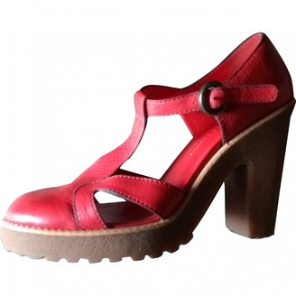 Marc by Marc Jacobs Red Leather Sandals