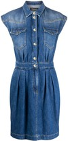 Pinko fitted denim mini dress