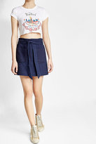 Anna Sui Printed Cropped Cotton T-Shirt