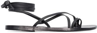 Ancient Greek Sandals black morfi leather sandals