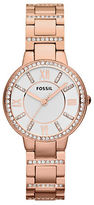 Fossil Ladies Virginia Rose Goldtone and Crystal Watch