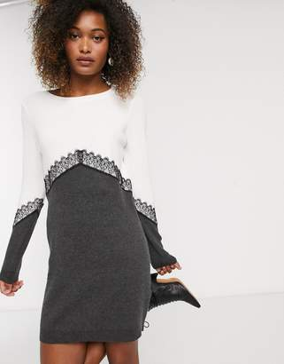 Vero Moda panelled jumper dress-Multi