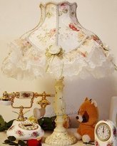 FDH luxury lace lamp garden fabric lamp bedroom happy new bedside lamp