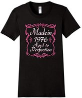 Women's 40th Birthday Gift Made 1976 Aged Perfection Pink (Fitted) Medium