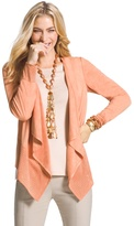 Chico's Faux-Suede Perforated Drape Jacket
