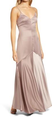 Lulus Buena Satin Gown