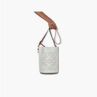 Loewe white Gate leather bucket bag