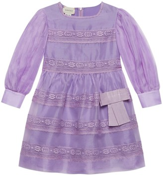 Gucci Children's silk dress with lace