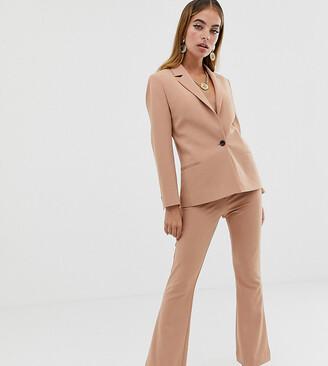 Asos DESIGN Petite tailored forever pants-Stone