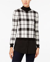 Style&Co. Style & Co. Plaid Layered-Look Sweater, Only at Macy's