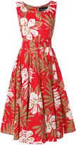 Samantha Sung floral print belted waist dress