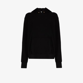 LES TIEN Brushed Cotton Cropped Hoodie
