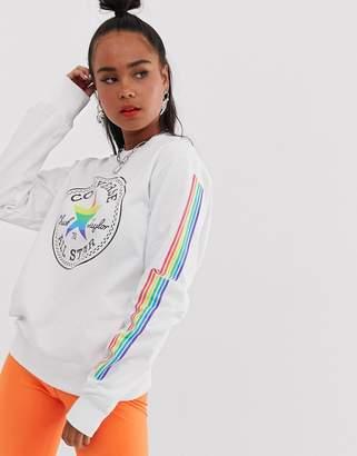Converse pride white and rainbow sweatshirt