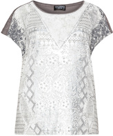 Via Appia Plus Size Printed jersey top