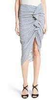 Veronica Beard Women's Hazel Ruffle Ruched Silk Skirt