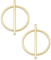 INC International Concepts Gold-Tone Circular Line Stud Earrings, Created for Macy's
