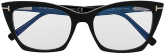 Tom Ford Cat-Eye Clear-Lens Glasses