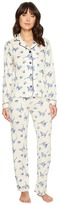 PJ Salvage Blue Batik Cat PJ Set Women's Pajama Sets
