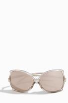 Linda Farrow Luxe Ash Rose Gold Oversized Sunglasses