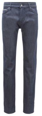 HUGO BOSS Regular Fit Jeans In Stay Blue Comfort Stretch Denim - Dark Blue