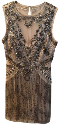 Aidan Mattox Silver Glitter Dress for Women