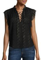 Rebecca Taylor Florence Silk Embroidered Top
