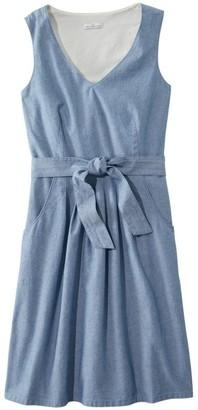 L.L. Bean Women's Clothing Signature V-Neck Chambray Dress