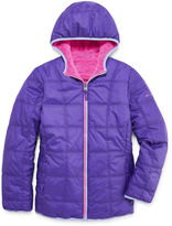 Free Country Girls Reversible Heavyweight Puffer Jacket-Big Kid