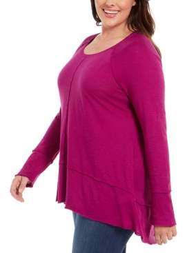 Style&Co. Style & Co Plus Size Seamed Tunic, Created For Macy's