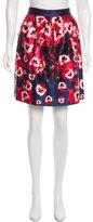 Prabal Gurung Floral Print Satin Skirt