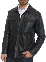 Robert Graham Colden Camouflage Leather Jacket