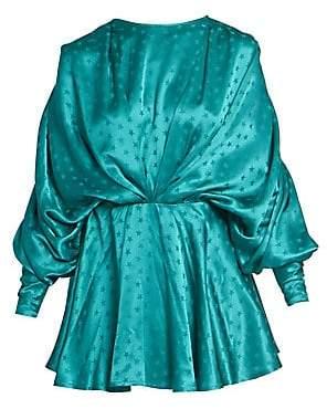 ATTICO Women's Stars Jacquard Ruched Mini Dress