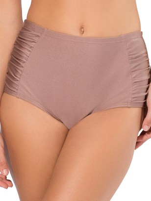 Smart & Sexy Women's Side Rouched High Waisted Shaping Bottom Swimwear