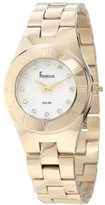 Freelook Women's HA2082G-9 All Shiny Gold With Mother-Of-Pearl White Face Swarovski Stones Watch