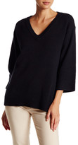 Canvas by Lands' End Canvas by Lands& End Wool Blend Boxy Pullover Sweater