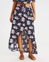 American Eagle Outfitters AE HI-LOW TASSEL TIE MAXI SKIRT