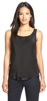 Lafayette 148 New York Women's Reversible Refined Silk Charmeuse Tank