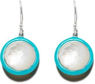 Ippolita Sterling silver and turquoise ceramic Lollipop Carnevale single drop earrings