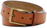 Steve Madden Tri-Center Stitched Leather Belt