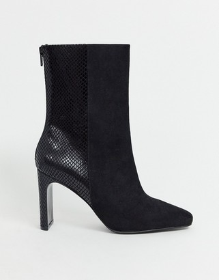 ASOS DESIGN Eleanor high ankle boots in black