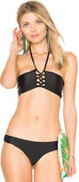Bettinis Lace Up Bandeau Top