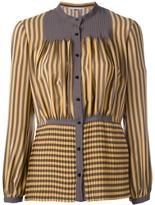 Marco De Vincenzo stripes pleated shirt - women - Silk - 38