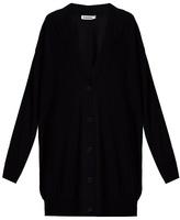 Jil Sander Long-line wool cardigan