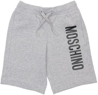 Moschino Logo Print Cotton Sweat Shorts