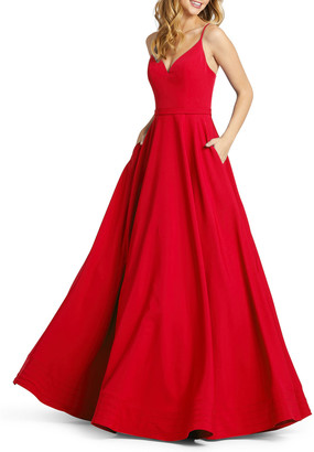 Mac Duggal 6-Week Shipping Lead Time Sweetheart Ball Gown with Pockets
